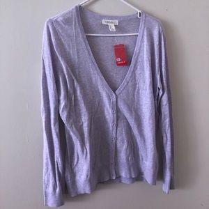 Forever 21 Lavender Cardigan